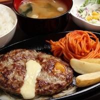 チーズINハンバーグセット(150g)