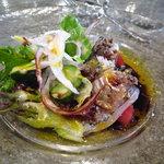 オシノ - 前菜☆アジのマリネ、バルサミコソース♪