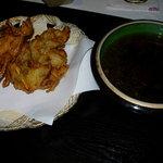 茶山 - 納豆とタマネギのかき揚げ