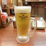 串かつじゃんじゃん - 生ビール 中(486円)