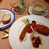 SENRIガーデンテラス - 料理写真:カニクリームコロッケとエビフライと、帆立のソテーのランチ。