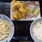 丸亀製麺 - タル鶏天ぶっかけ・タルタルソース抜き&天丼用ご飯
