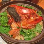 42740592 - 金目鯛土鍋ご飯