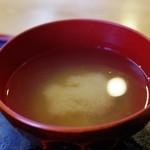秋刀魚 - 味噌汁