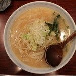 ラーメン 菜香 - 味噌ラーメン(700円、真上から)