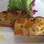 IMURI Cafe - ベーコンとカボチャのケークサレ。