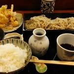 寿和楽の長三郎 - 料理写真:かき揚げせいろランチ