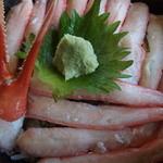 おけしょう鮮魚の海中苑 - 料理写真:(2015/09/26)カニ丼・up