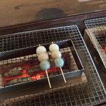 みはらしカフェ茶屋 - (2015/09/26)いろり団子を炙る