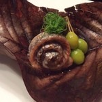 幻董庵 - 焼き物は太刀魚と牛タン
