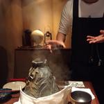 炉とマタギ - 蒸しあげ中