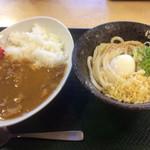 はなまるうどん - 料理写真:カレーセット(カレーライス・温玉ぶっかけ共に増量)730円