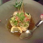 セサミ - 京漬物と海老の生湯葉巻き