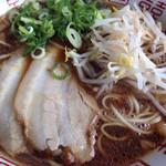 香龍 大竹店 - 醤油豚骨背油、細スト