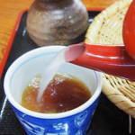 穣庵 - 蕎麦湯