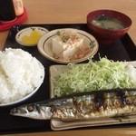 定食の店 ごんべ - 料理写真:サンマ定食(ごはん小) 580円(第二回投稿分①)