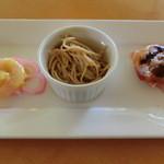 琉華菜苑 - 料理写真:ランチコース・水仙の前菜