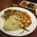 42971799 - バイキングから麻婆豆腐、チャーハン、レバニラ炒め。