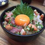 宿場 - 201509 まかない海鮮丼(500円)