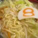 8番らーめん - <2015年10月>中太麺とたっぷり野菜