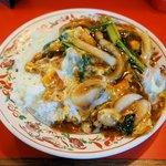 あけぼのラーメン - 中華カツ丼