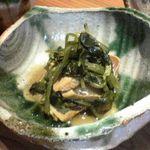 土山人 芦屋店 - 地鶏と花わさび醤油あえ