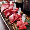 とびうし - 料理写真:上ヒレと和牛赤身三種盛合せ