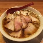Menyashichisai - 喜多方肉そば(煮干し)大盛り