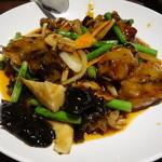 包龍 - 牡蠣の四川老酒ソース炒め
