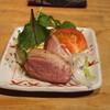 まるやま - 料理写真:お通し (鴨の燻製) (2015/09)
