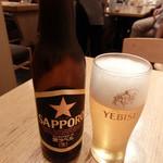 ひつまぶし名古屋 備長 - サッポロ生黒ラベル小瓶で630円!高い・・・・