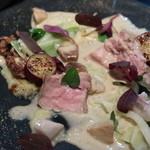 ラ・ボンヌターブル - 仔牛のロースト、セップ茸のソース、キャベツのピュレ