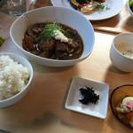 あじと cafe日びの - 旬菜ご飯セット(ご飯大盛り)