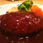 43335326 - 黒毛和牛とやまと豚のハンバーグステーキ(1.5倍 270g)