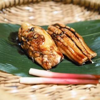 あさば - 料理写真:名物穴子黒米ずし
