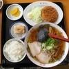 すがい食堂 - 料理写真:ラーメン定食メンチカツ¥830(2015.10.10)