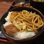 長田本庄軒 - 焼きそばご飯完成