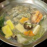 安芸路 酔心 - 牡蠣鍋2人前(少し食べた後)