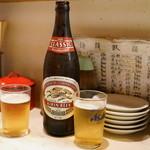 あづま - ビール(550円)キリンクラシックラガー中瓶