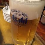 肉人 - 生ビール。