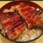 宇奈とと - 料理写真:【再訪】うな丼ダブル(1,000円税込)ご飯大盛り