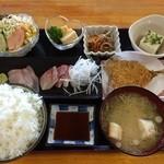 うまえもん - 日替り定食 ¥650+御飯大盛り+\30 (税別)