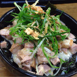 麺哲 - ブタマヨ丼〜♪( ´θ.`)ノ¥300円