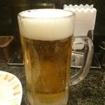 カレーとハンバーグの店 バーグ - 2015年9月 生ビール(サッポロ)