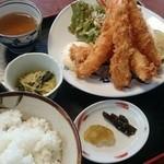 よし川 - エビフライ定食