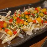 個室居酒屋 茶の庭 - 鮮魚のカルパッチョ♪彩り鮮やかで美味しい!