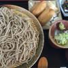 とり井 - 料理写真:もりそばといなりセット 600円 おいなり美味しいよ(❛ᴗ❛人)✧