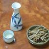 うなぎ 松村 - 料理写真:日本酒 剣菱(486円)と骨せんべい(324円)