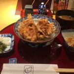瓢天 - 料理写真:かき揚げ天丼1000円