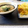道蕎麦 - 料理写真:かけ、かき揚げ